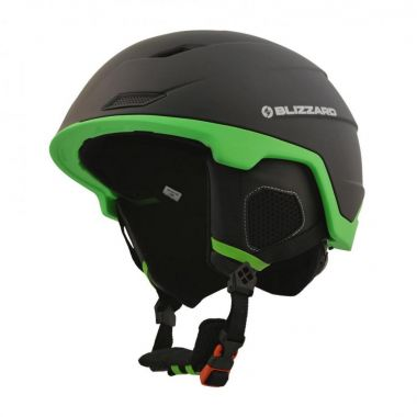 Lyžařská helma BLIZZARD Double, black matt/neon green