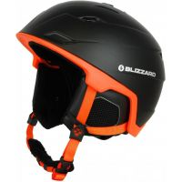 Lyžařská helma BLIZZARD Double, black matt/neon orange