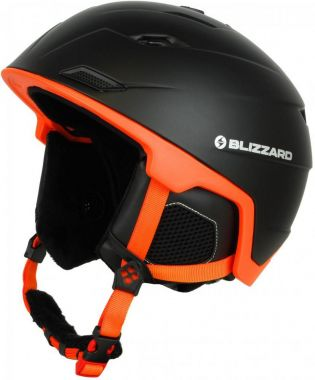 Lyžařská helma BLIZZARD Double, black matt/neon orange