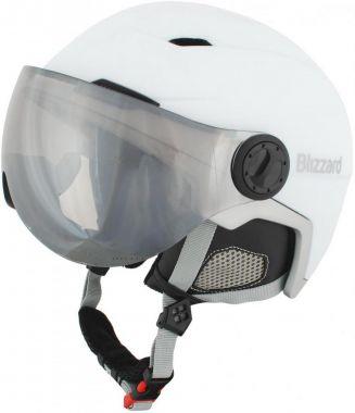 Lyžařská helma BLIZZARD Viva Double Visor, white matt/silver, silver mirror
