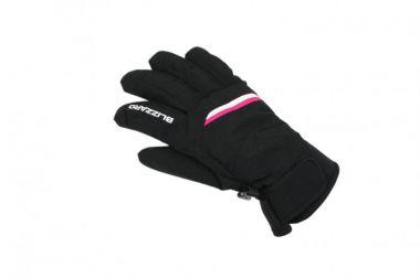 Lyžařské rukavice BLIZZARD Viva Plose, černá/bílá/růžová