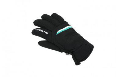 Lyžařské rukavice BLIZZARD Viva Plose, černá/bílá/tyrkysová